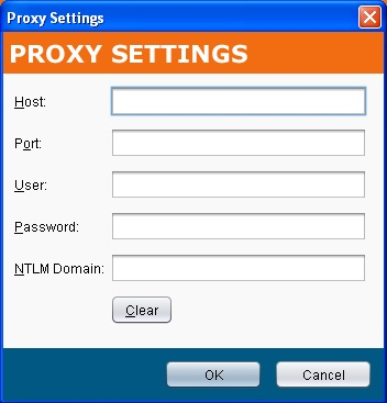 Jitterbit Proxy Settings
